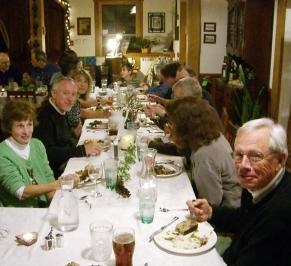 Dinner Christmas - Bent Creek Lodge, Asheville, NC