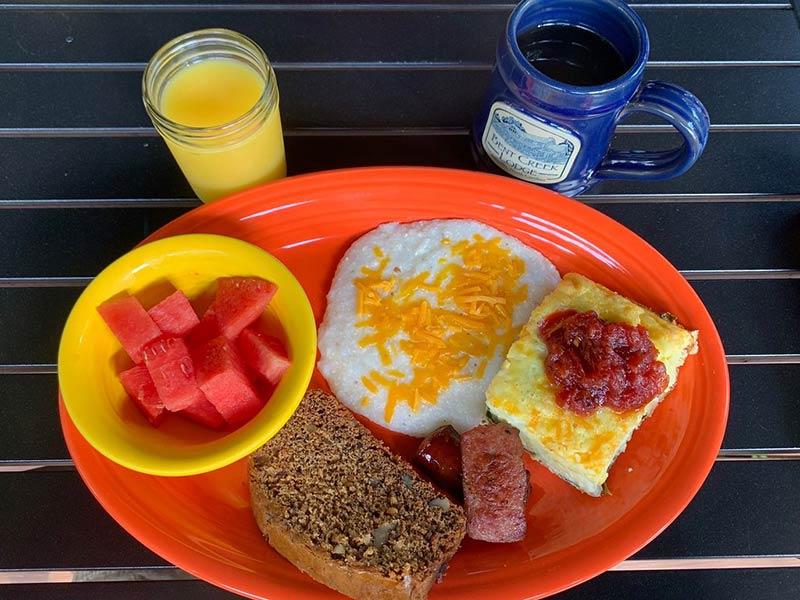 Bent Creek Lodge breakfast