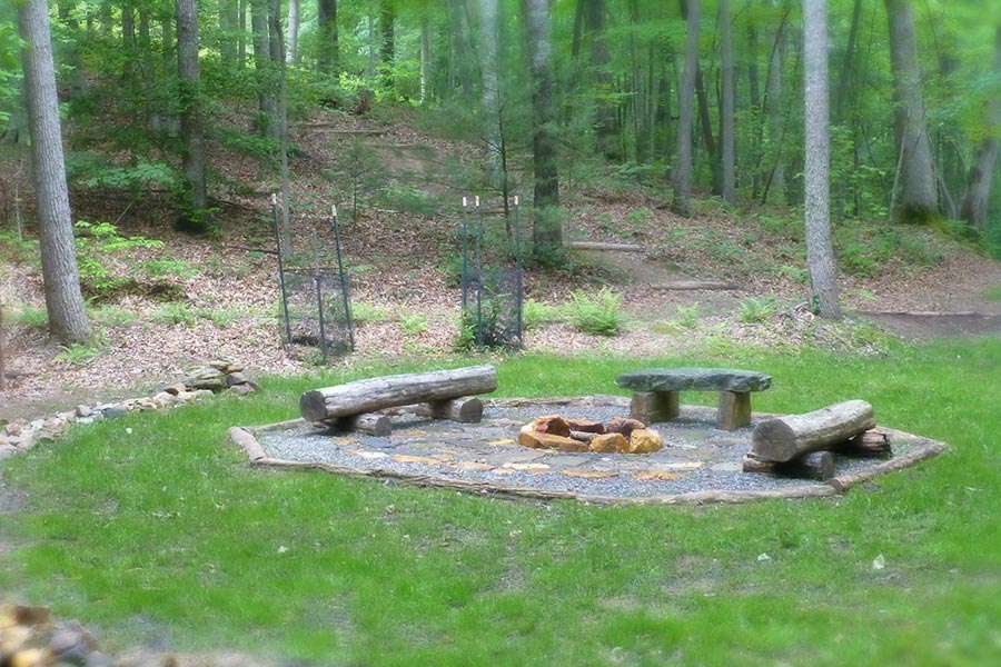 fire pit at Bent Creek Asheville