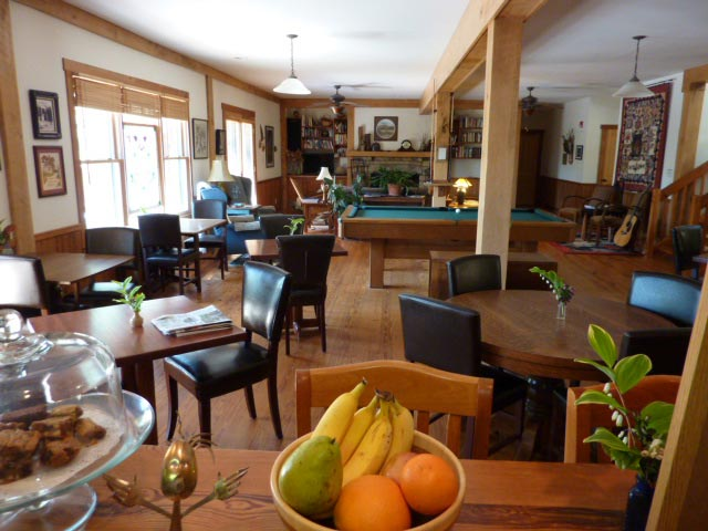 dining and great room at Bent Creek Lodge