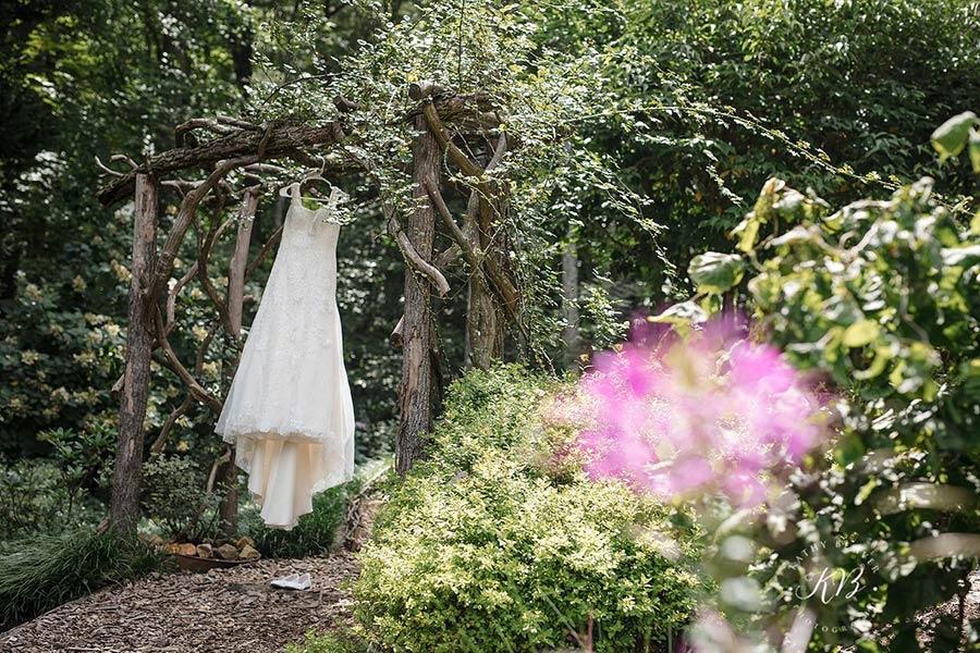 wedding dress at Blue Ridge Parkway Wedding