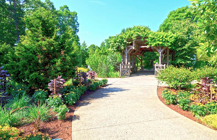 North Carolina Arboretum entrance