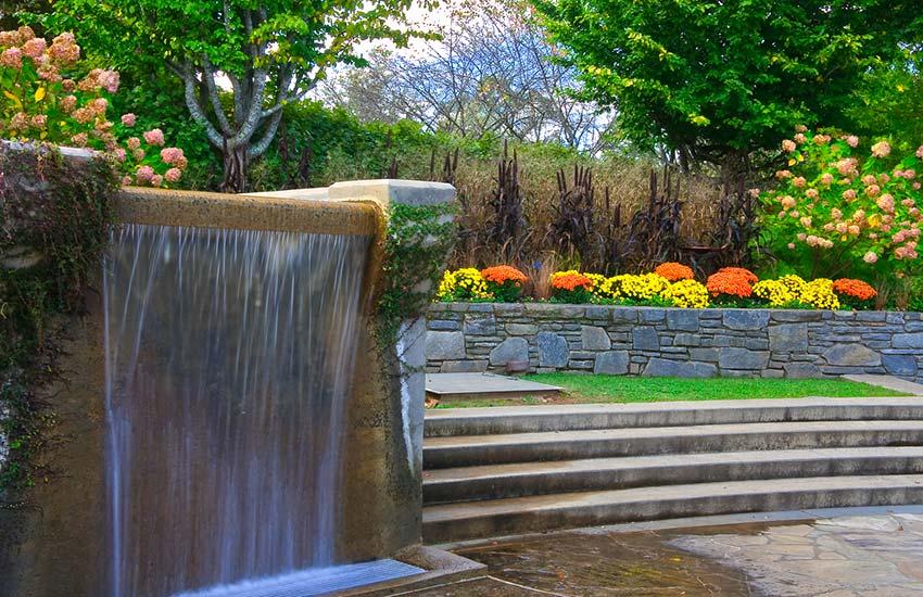 Arboretum waterfall