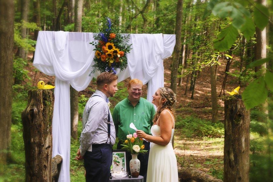 Blue Ridge Parkway Elopement couple
