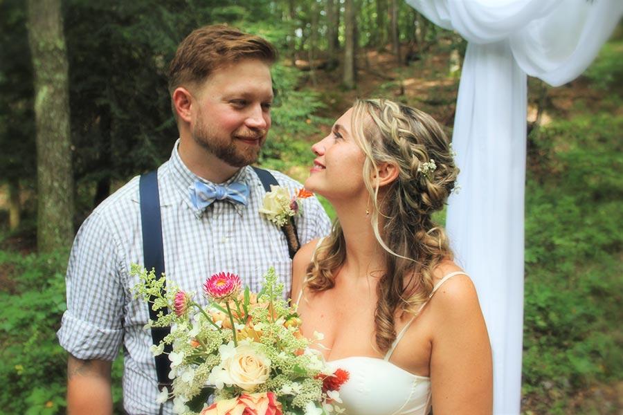 Blue Ridge Parkway Elopement bride and groom