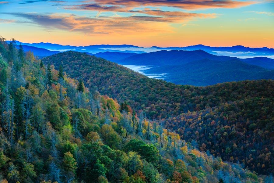 Romantic Asheville NC Blue Ridge Mountains