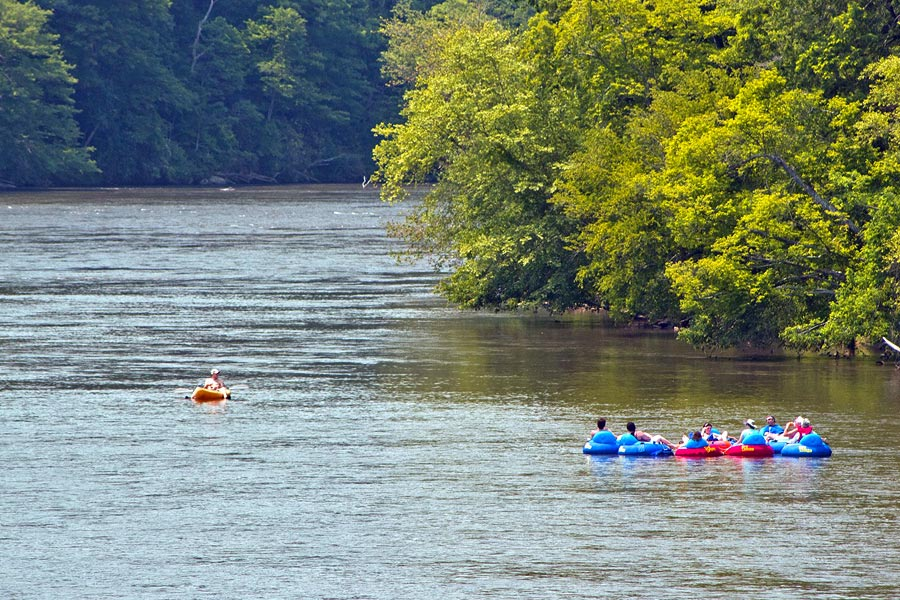 Zen Tubing the French Broad River in Asheville NC