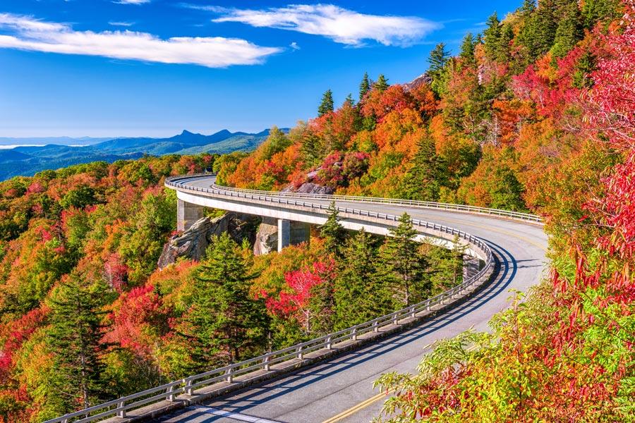 Asheville Fall Foliage Linn Cove Viaduct