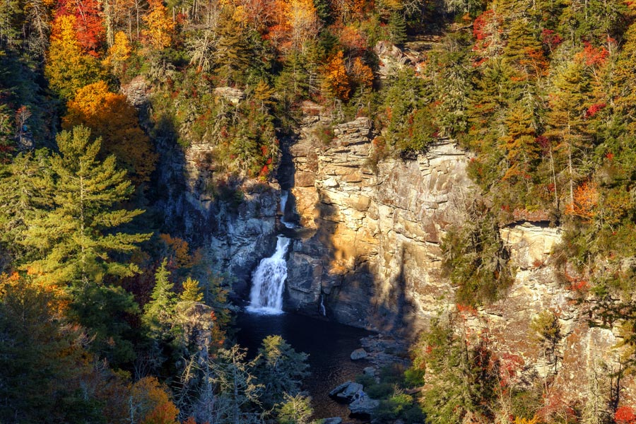 Asheville Fall Foliage Linville Falls